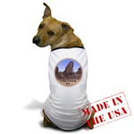 vancouver Dog Shirt, Dog Sovenirs, Vancouver BC Canada Gastown Illustration, Artwork by artist Kim Hunter