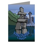 Vancouver Souvenir Greeting Cards 6 Pack Art Cards