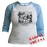 Vancouver BC Souvenir Women's Shirts Jr. Raglan Baseball Jersey Women Gifts Shop Online Vancouver Landmark Souvenirs Gifts for Women Girls  & Much More