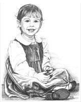 Kid's pencil portrait sketched drawing from photograph children's pencil, sketch, portrait, original children's portrait art drawing of a girl. commissioned pencil portrait.Landscape sketches, wildlife, nudes, people, portraits, pets,Sketched Portrait from Photograph