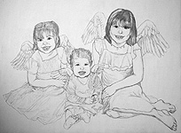 children pencil sketch portrait kids portrait drawing of children from photo