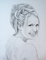 Custom Pencil Portraits from Photos Vancouver Artist Designer Kim Hunter Original Fine Art Drawings from Photographs In Loving Memory Art