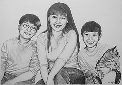 Family Pencil Portraits Also See Pencil Portrait Father & Daughters family pencil sketch Family Sketched & Painted Portraits from Photos
