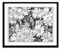 Flowers Sketch Framed Art Print Flowers Daisies Art Drawing -Daisies & Honey Bee Fine Art  Framed Prints, Posters, Prints, Landscape Painting Framed Prints greeting cards, calenders,mousepads, journals & gifts