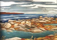 wildlife painting Polar bear painting, Landscape painting with bears Original Mother Polar Bear W. Cubs migrating in Churchill Manitoba Painting  wildlife painting Canadian Artist Kim Hunter / Indigo Commissioned paintings welcome!